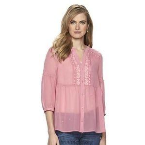 LC Lauren Conrad blouse size small
